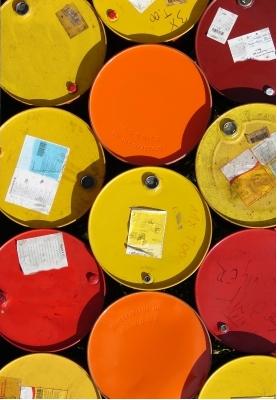 Barcode-Etiketten für Ölfässer