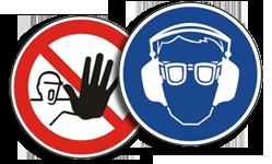 Sicherheitskennzeichnung am Arbeitsplatz nach BGV A8