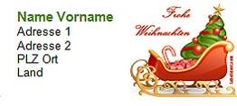 Adressetiketten Vorlage Word 2003 Für Weihnachten Zum Herunterladen
