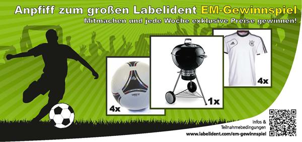 EM-Gewinnspiel 2012 bei Labelident