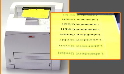 Gewebeetiketten mit dem Laserdrucker bedrucken