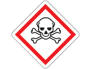 Gefahrensymbol ghs06-totenkopf
