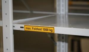 Kennzeichnen der max. Feldlast