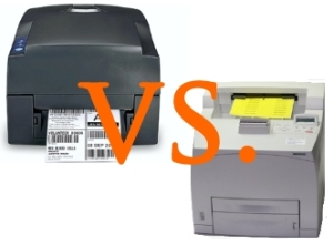 Thermotransfer vs. Laserdrucker