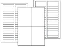 Transparente Bogenetiketten aus Polyester