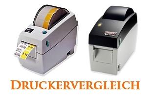 Druckervergleich zwischen Zebra LP-2824 Plus und Godex EZ-DT2
