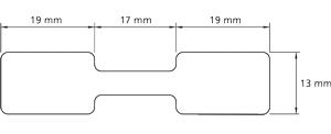 Preis-Etiketten mit Steg 55x13 mm