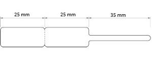 Preis-Etiketten mit Steg 85x15mm