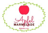 Etiketten Apfel Marmelade