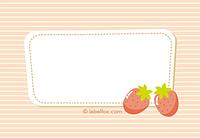 Etiketten Erdbeere gezeichnet groß