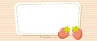 Etiketten Erdbeere gezeichnet mittel