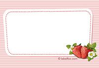 Etikett Erdbeere groß
