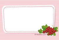 Etikett Rote Johannisbeere groß