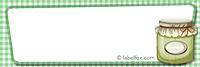 Etiketten blanko grün klein