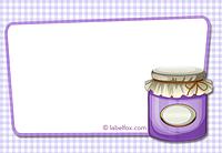 Etiketten blanko lila groß