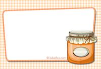Etiketten blanko orange groß