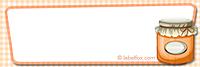 Etiketten blanko orange klein