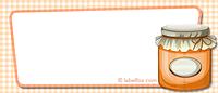 Etiketten blanko orange mittel