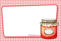 Etiketten blanko rot groß