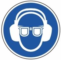 Gebotszeichen Augen- und Gehörschutz tragen nach ASR