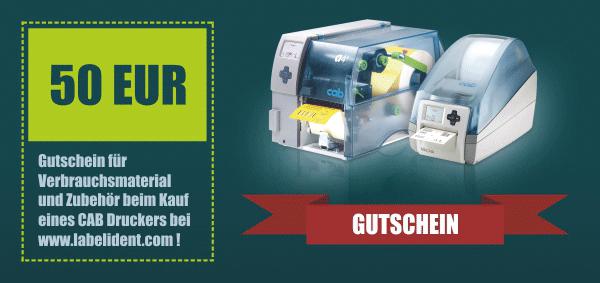 Gutschein-Aktion für CAB Etikettendrucker