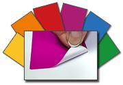 Polyesteretiketten in sechs Farben