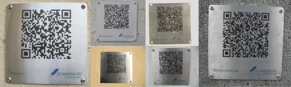 Verschiedene QR-Codes in Schweinfurt