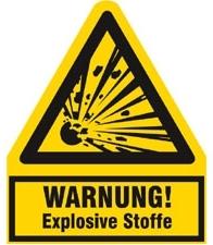 Warnzeichen für explosive Stoffe