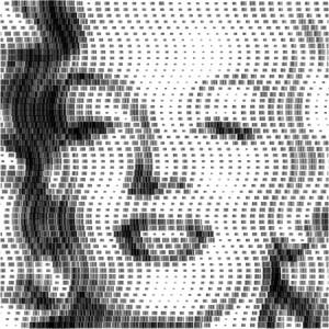 Marilyn Monroe aus Barcodes