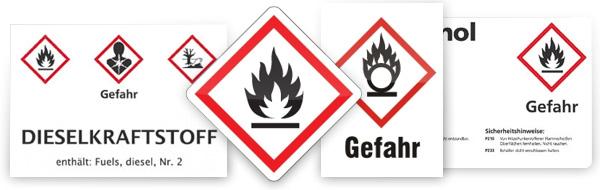 GHS-Kennzeichen verwenden
