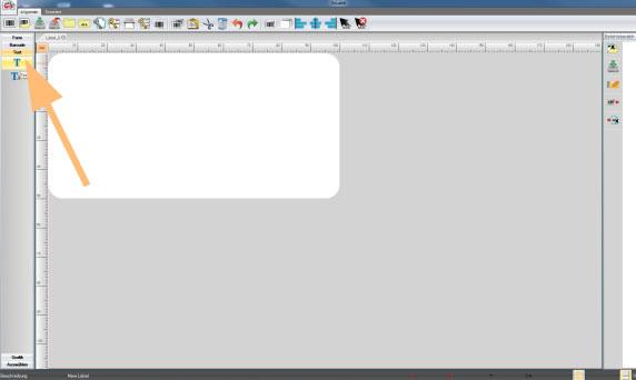 GoLabel. Etikett erstellen und Textfeld anlegen