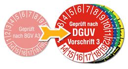 Prüfplaketten BGV A3 werden zu DGUV Vorschrift 3