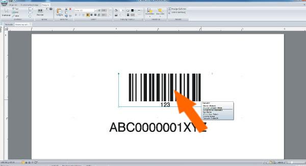 Barcode-Etikett erstellen mit cablabel s3 - Schritt 10