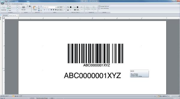 Barcode-Etikett erstellen mit cablabel s3 - Schritt 12