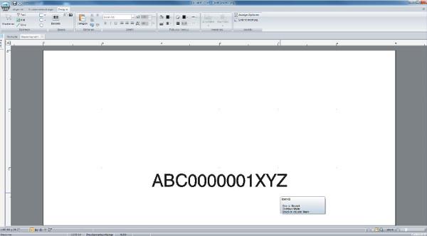 Barcode-Etikett erstellen mit cablabel s3 - Schritt 7