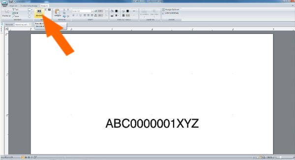 Barcode-Etikett erstellen mit cablabel s3 - Schritt 8