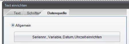 GoLabel Software - Datenquelle wählen