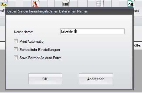 GoLabel - Dateiname angeben