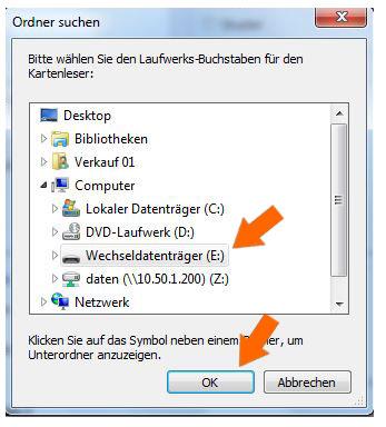 USB-Stick auswählen