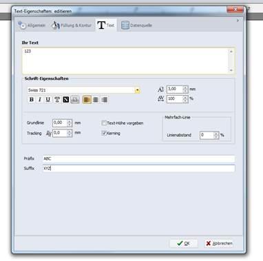 Barcode in der CAB-Label-Software erstellen