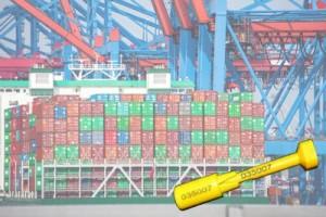 Sicherheitsplomben für Überseefrachtcontainer.