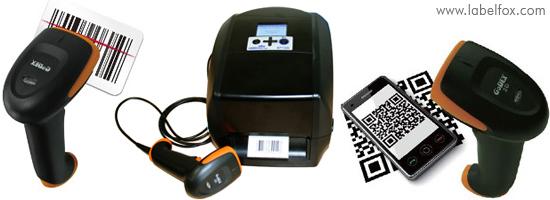 Etikettendrucker mit Barcode-Scanner verbinden und scannen