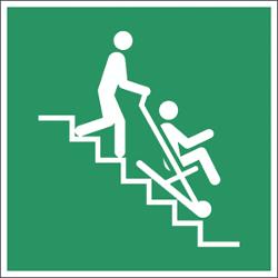 Rettungzeichen Evakuierungsstuhl