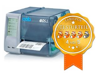 CAB EOS 1 Etikettendruckertest