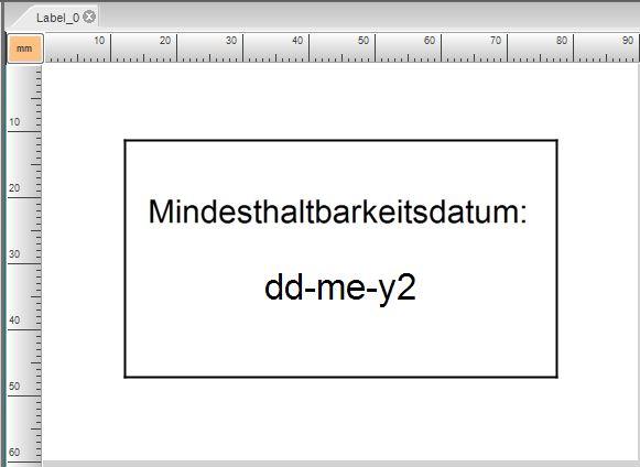 fertiges Etikett mit MHD