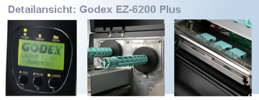 Details Godex EZ-6200 Plus