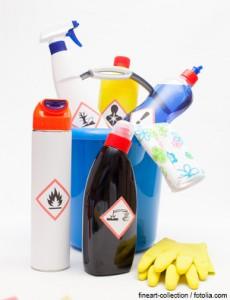 Eimer und Reinigungsmittel mit neuen GHS-Symbolen
