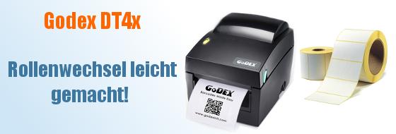 Godex DT4x Etikettenwechsel