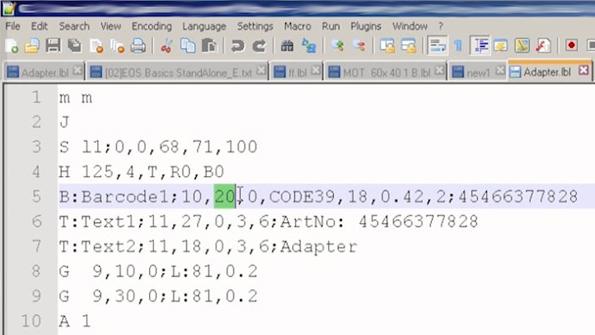 EOS Netzwerk-Nutzung: Etikett editieren