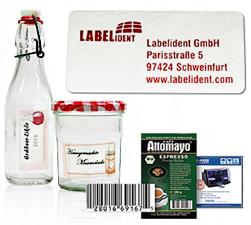 Anwendungsbeispiele für farbige Inkjet-Etiketten – ©2001-2015 Primera Technology Europe, ©labelfox.com